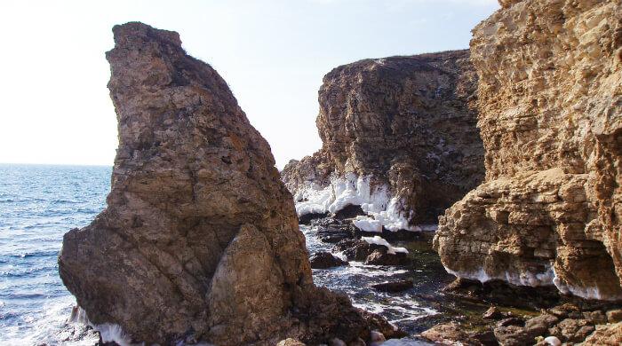 Скала Лягушка на Тарханкуте. Фото