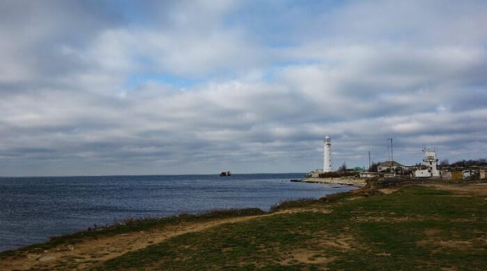 Фото маяка на Тарханкуте