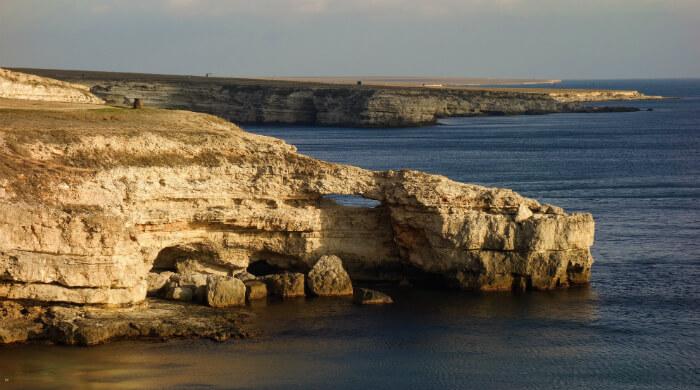 Тарханкут (Крым). Скала Крокодил