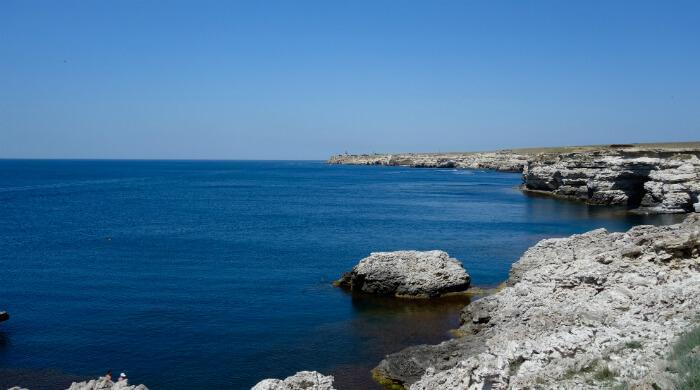 Тарханкут - море и скалы. Фото